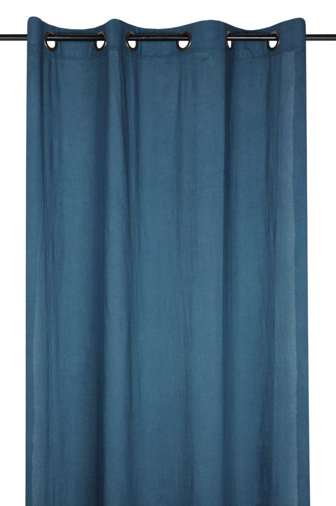 Perdea bumbac albastru inchis Aube Petrole 140x260 cm