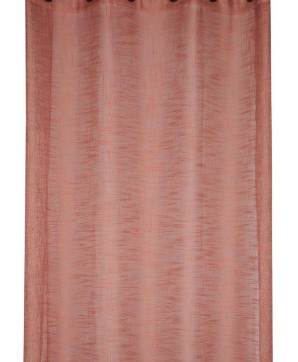 Perdea caramizie confectionta Ontario Terracotta 135x260 cm