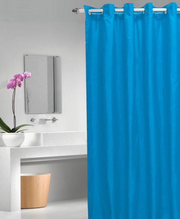 Perdea dus albastra 1040 Magica lisa Azul 180x200 cm