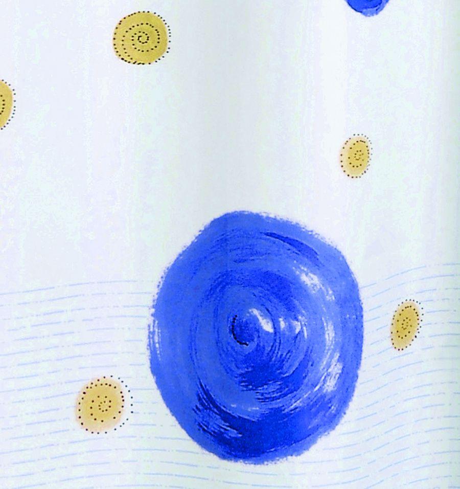 Perdea dus albastra Diana 180x200 cm