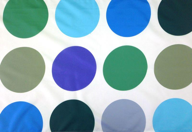 Perdea dus buline verzi albastre Roses 180x200 cm