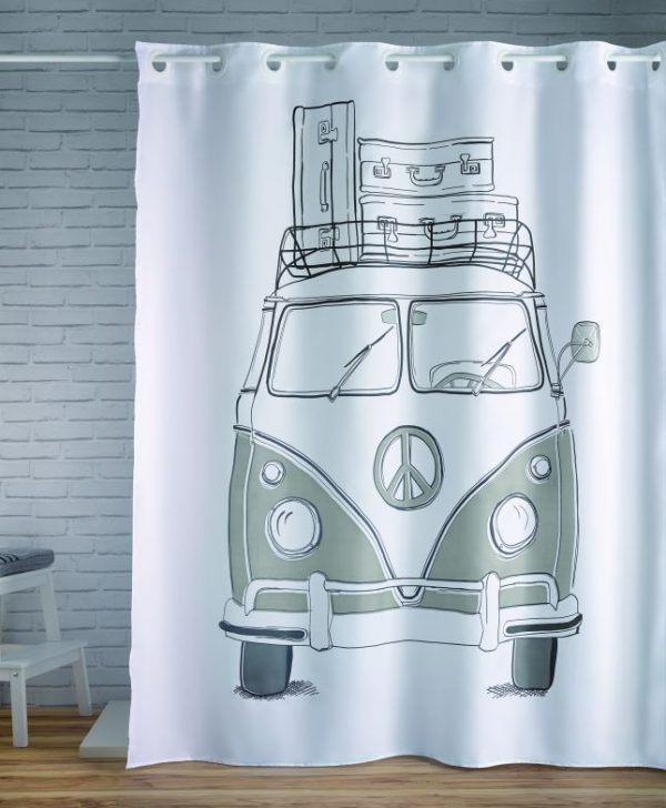 Perdea dus dubita VW retro verde 240 180x200 cm