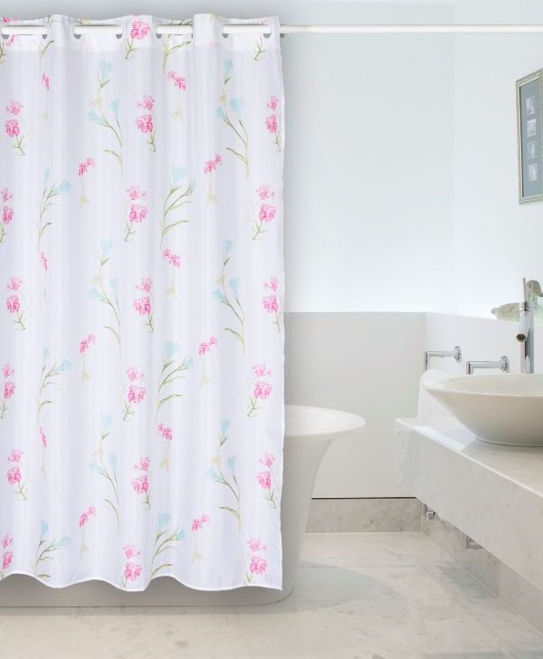 Perdea dus flori roz 238 Ariela 180x200 cm