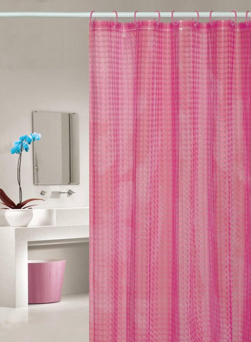Perdea dus roz transparenta Bubbles 107 180x200 cm