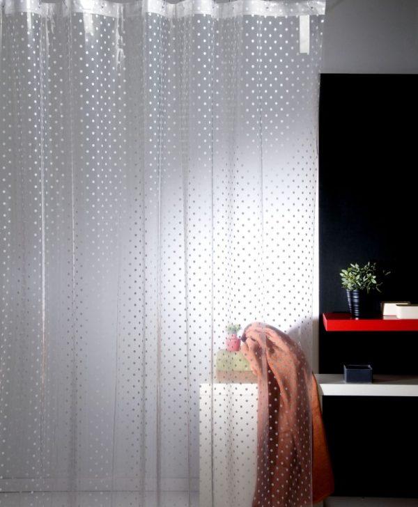 Perdea dus transparenta buline 224 Dots 180x200 cm