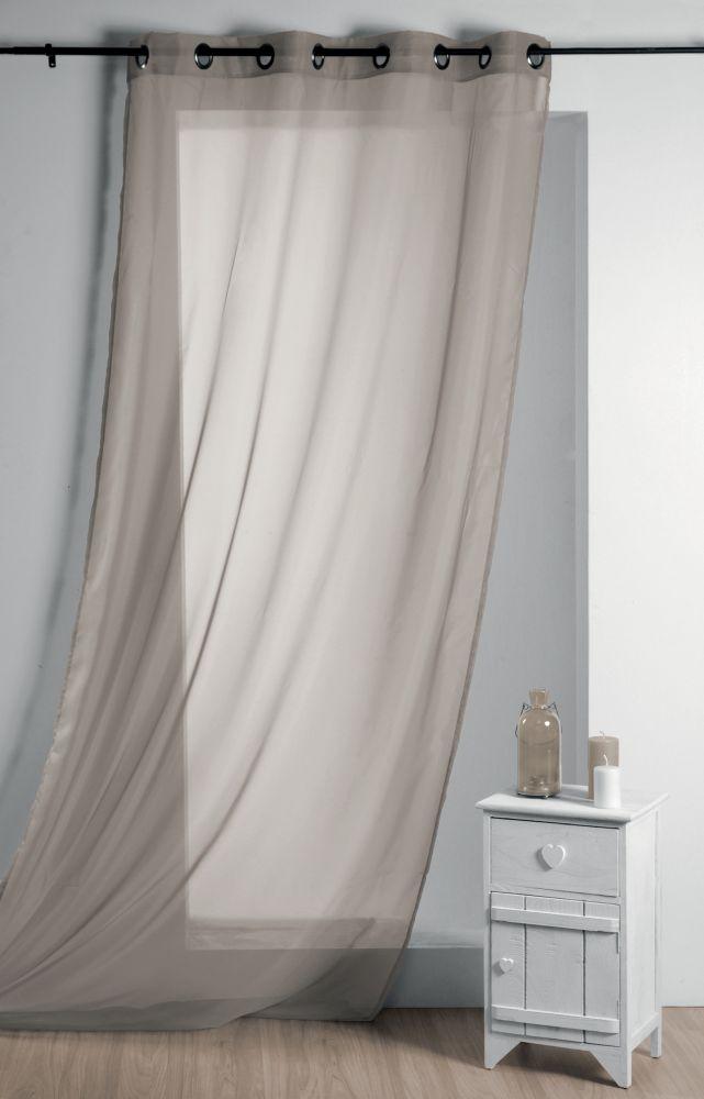 Perdea grej confectionata Lisa Lin 135x260 cm