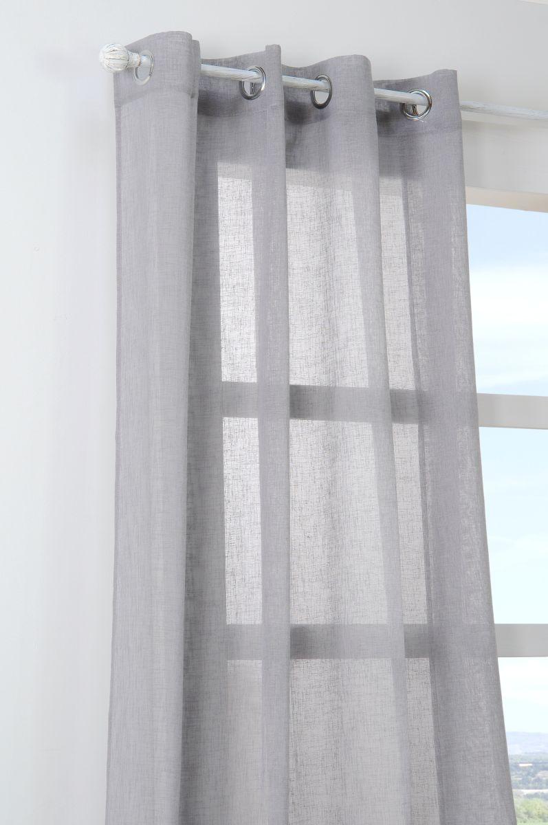 Perdea gri confectionata Paloma Gris 140x260 cm