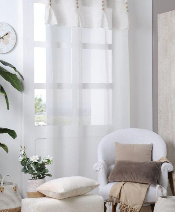 Perdea ivoire eleganta Andrea Ecru 140x260 cm