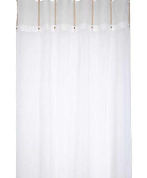 Perdea moderna pe inele Handcraft Ecru 140x260 cm