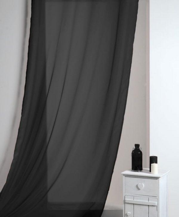 Perdea neagra confectionata Lisa Noir 135x260 cm