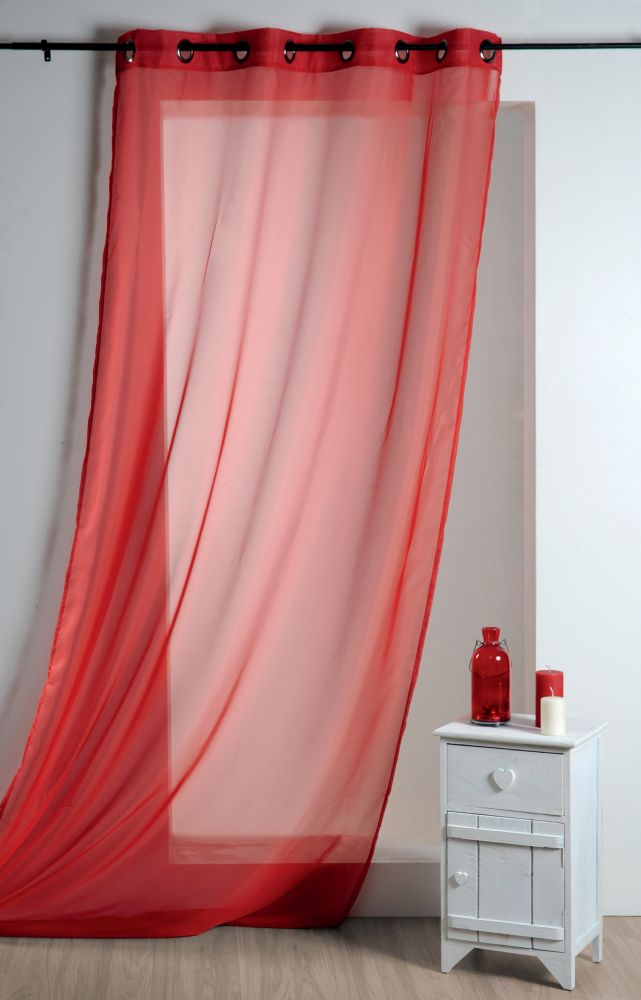 Perdea rosie confectionata Lisa Rouge 135x260 cm