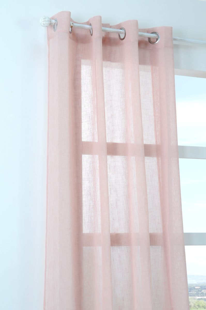 Perdea roz confectionata Paloma Rose 140x260 cm
