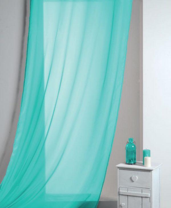 Perdea turcoaz confectionata Lisa Turquoise 135x260 cm