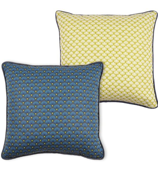 Perna albastra galben Doucet Bleu 40x40 cm