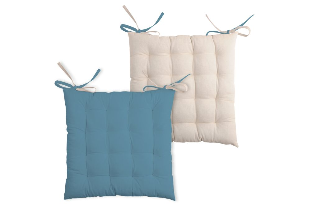 Perna albastra scaun Duo Galette Azul Lin 40x40 cm