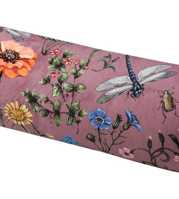 Perna cilindrica roz bolster Boudoir Vieux Rose 20x50 cm