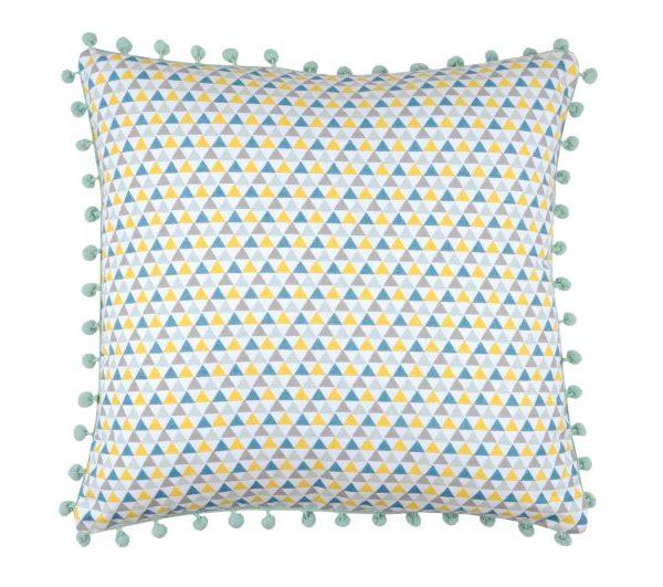 Perna colorata triunghiuri Isocele Celadon 40x40 cm