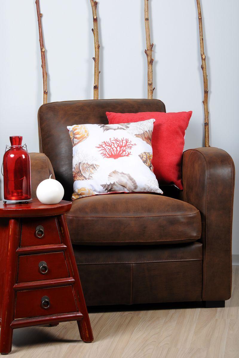 Perna decorativa scoica rosie Buccin 40x40 cm