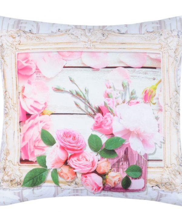 Perna florala decorativa Capeline Rose 40x40 cm