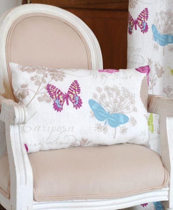 Perna fluturi colorati Butterfly Blanc 4588 30x50 cm