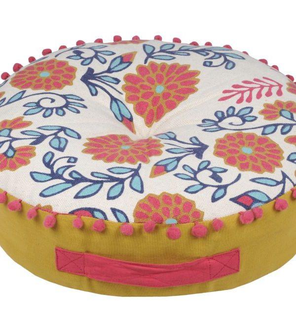 Perna podea florala colorata Anya Multicolore 45x45x10 cm
