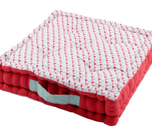 Perna rosie triunghiuri podea Isocele Rouge  45x45x10 cm