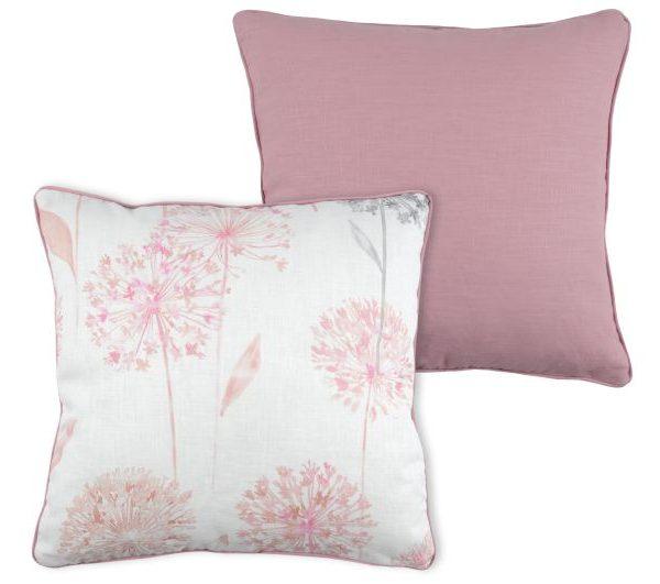 Perna roz decorativa Allium/Ramie 50x50 cm