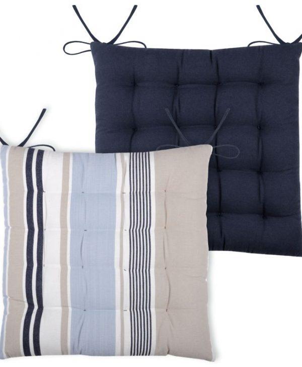 Perna scaun dungi albastre Guernezey Ocean 40x40 cm