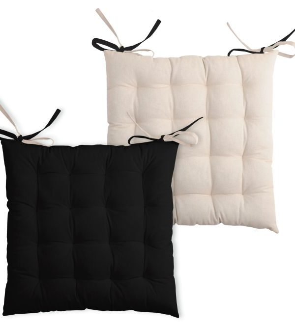 Perna scaun neagra Duo Noir Lin 40x40 cm
