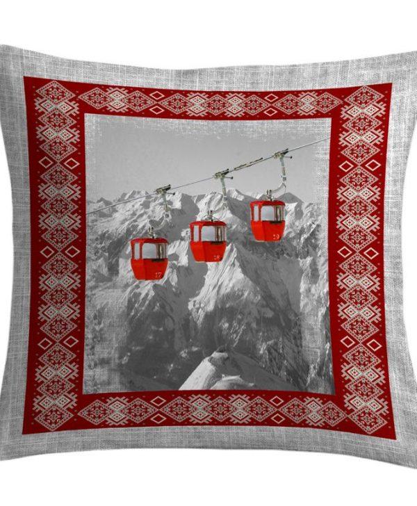 Perna ski telecabine rosii Vanoise2 50x50 cm