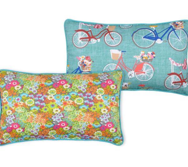 Pernita biciclete turcoaz Bicycle Floraly Celadon 30x50 cm