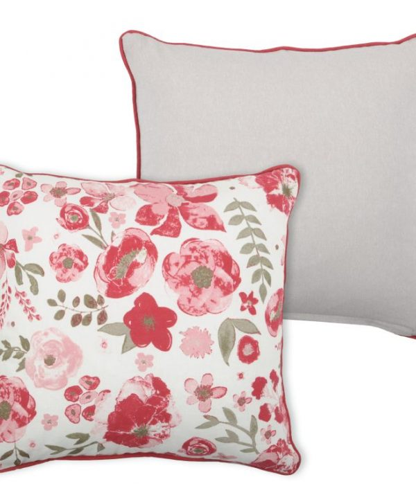 Pernita florala decorativa Coventry Framboise 40x40 cm