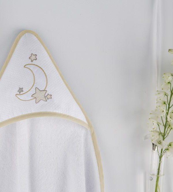 Prosop gluga bebe alb crem 1276 50 Nacre 100x100 cm