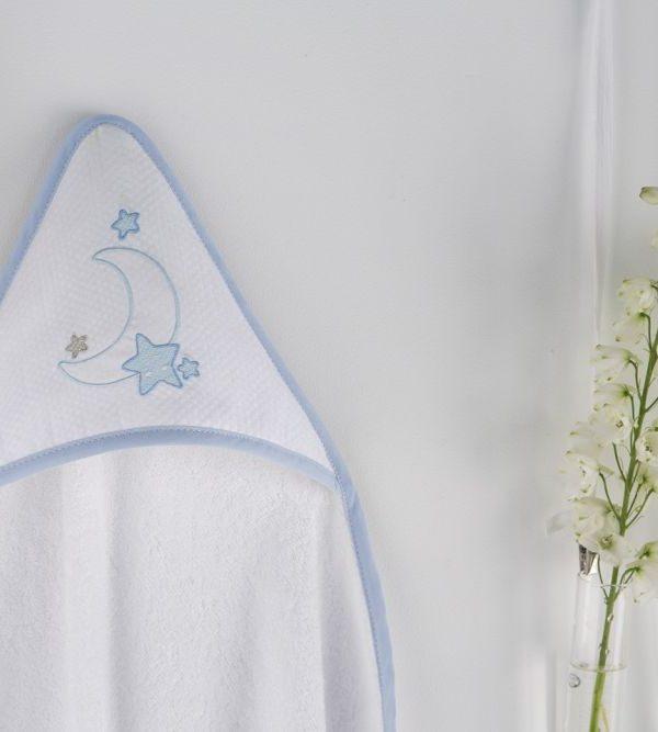 Prosop gluga bebe luna albastra 1276 62 Azul 100x100 cm