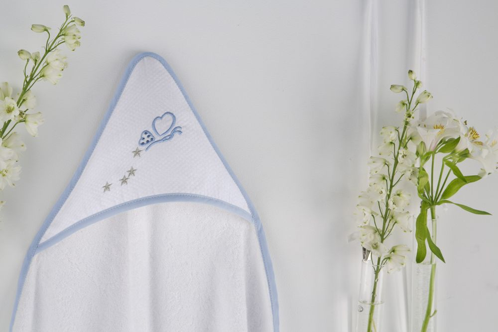 Prosop gluga fluturas bebelusi bumbac 1275 62 Azul 100x100 cm