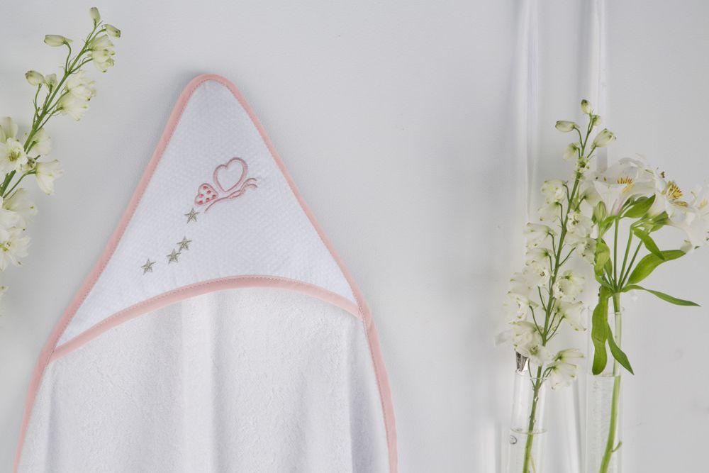 Prosop gluga roz bebelusi bumbac 1275 63 Rosa 100x100 cm