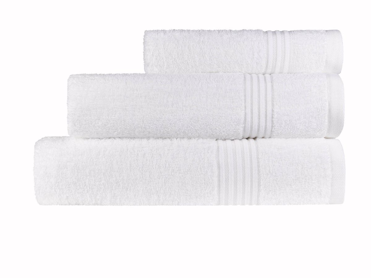 Prosop maini alb 50x100 cm bumbac 6005 Calpe Blanc (00)