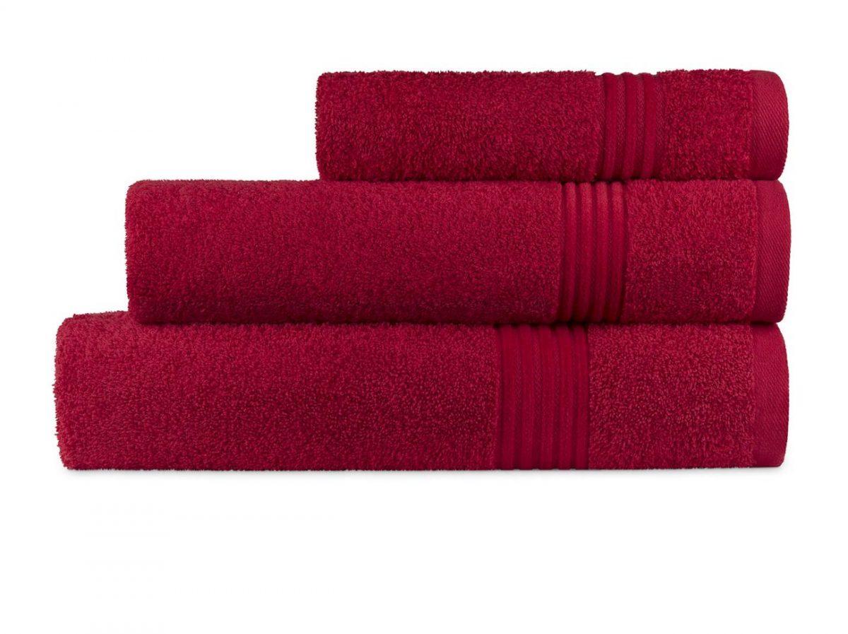 Prosop rosu 70x140 cm bumbac 6005 Calpe Rojo (02)