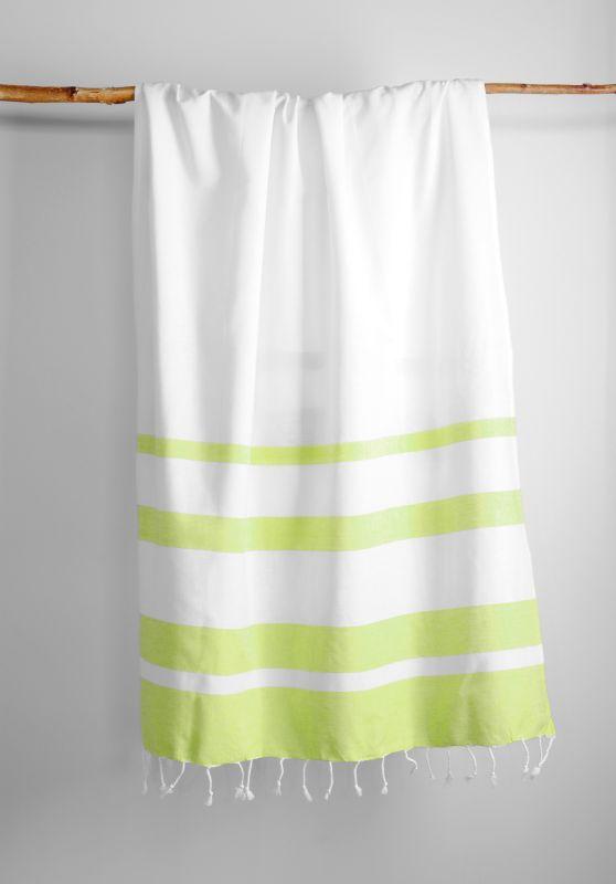 Prosop sezlong verde alb Filao Anis 95x180 cm