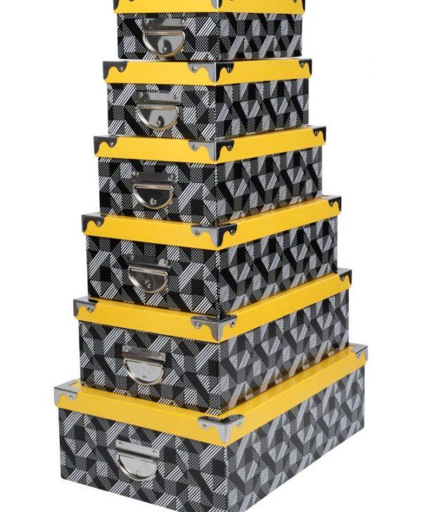 Set 6 cutii depozitare Beely Jaune