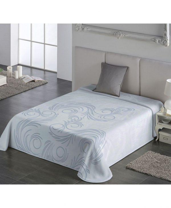 cuvertura albastru deschis pat moderna 5663