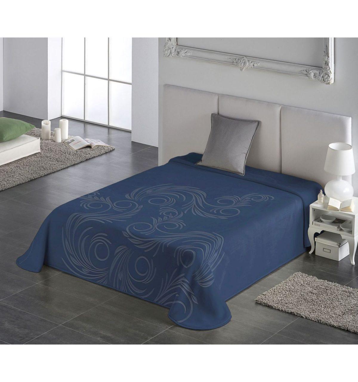 cuvertura albastra moderna pat 5663