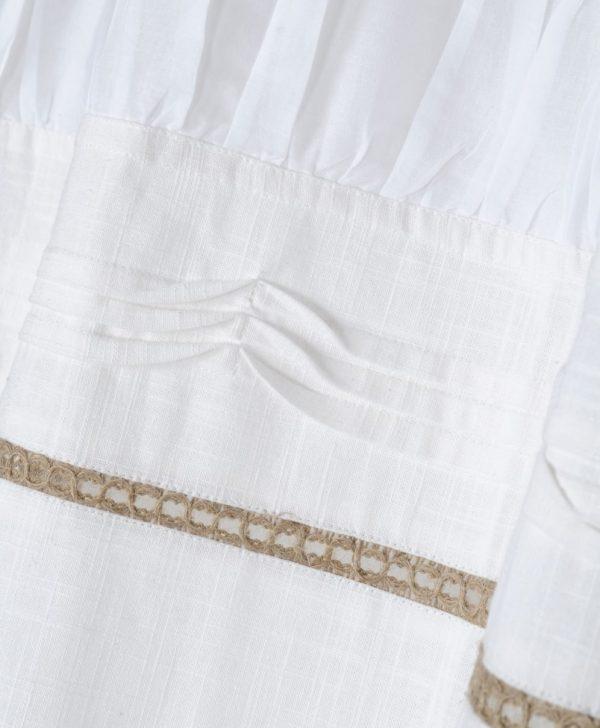 draperie bumbac alba confectionata Rebecca Blanc
