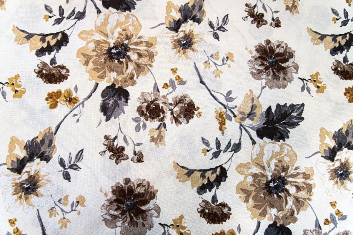 draperie dormitor cu flori mari