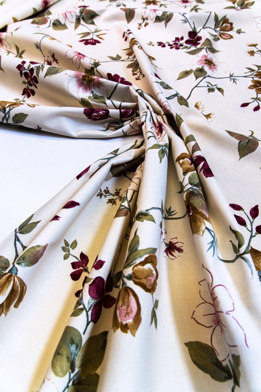 draperie cu flori colorate bumbac