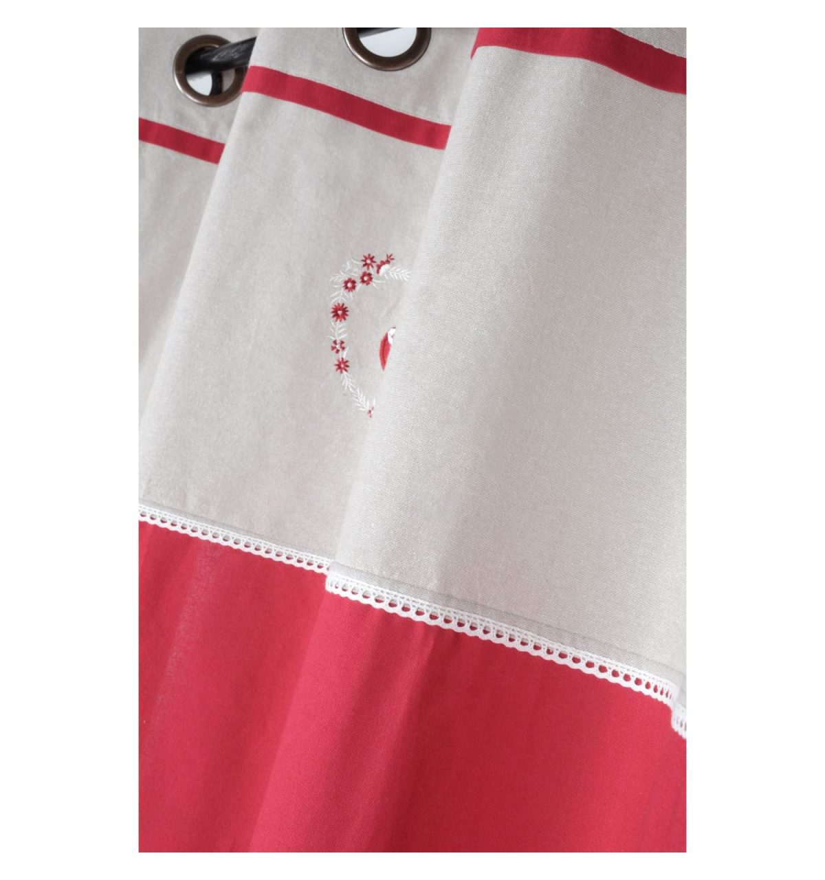 draperie rustica bumbac rosie Pauline