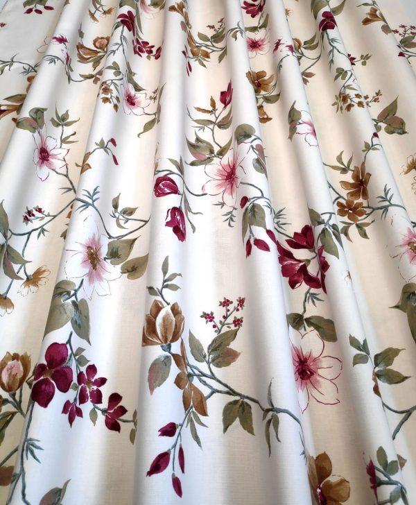 draperii bumbac floricele colorate Fontaine