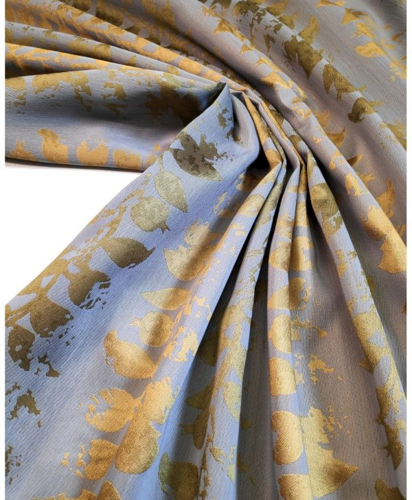 draperii elegante flori galbene