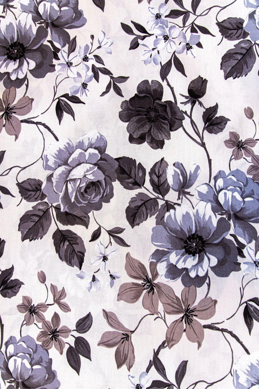 draperie flori gri bumbac Preston