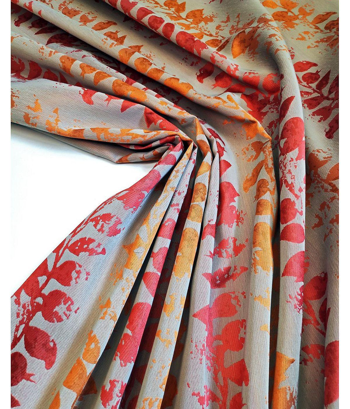 draperie flori portocalii elegante
